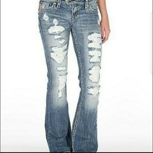Silver Jeans Distressed Tuesday Lace 29/33